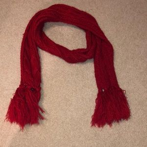 Aeropostale Red Knitted Scarf